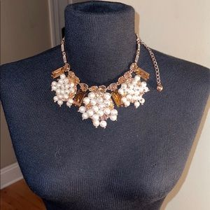 Kate Spade rose gold pearl crystal necklace